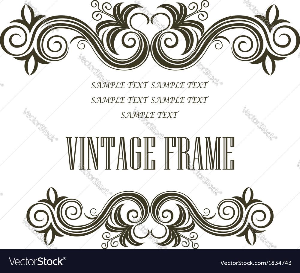 Vintage framing header and footer vector image
