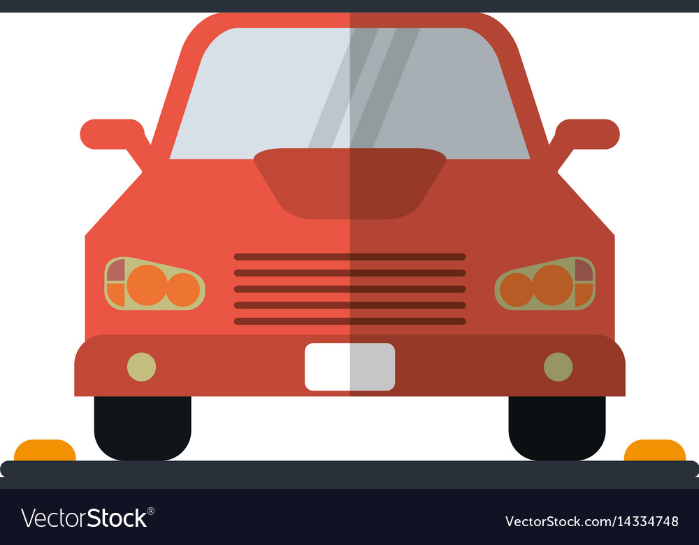 Car sedan vehicle transport icon vector image