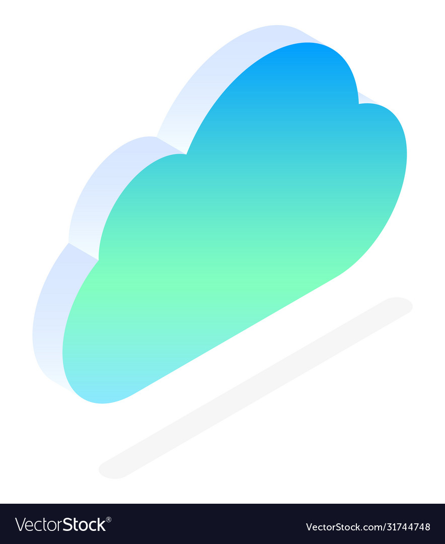 Datacenter cloud with files online storage icon