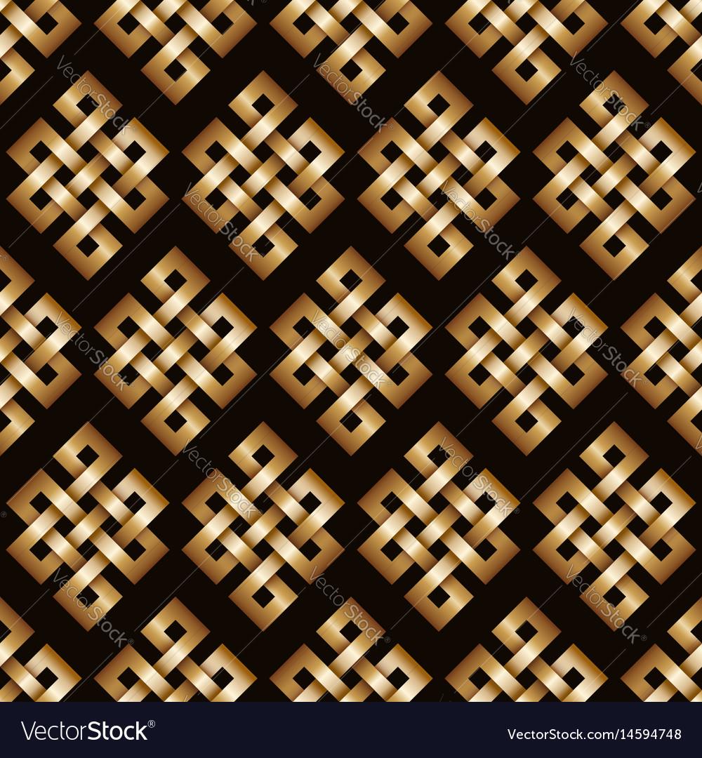Golden endless knot background