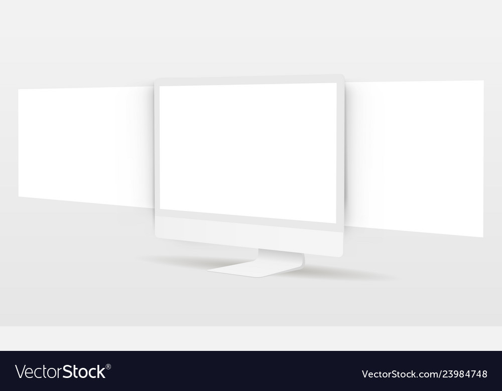 Pc monitor with blank framework web pages