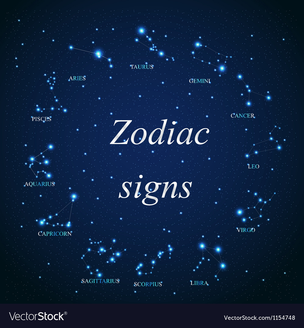 The aries zodiac sign of the beautiful bright