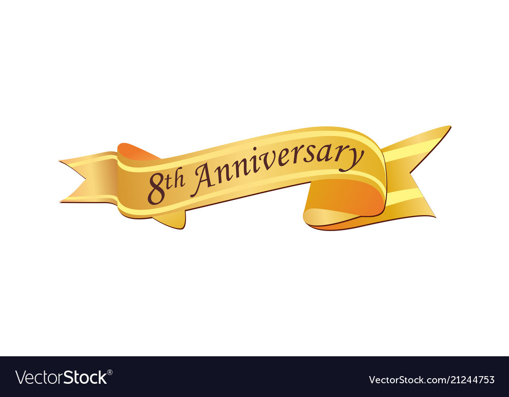 8th anniversary logo
