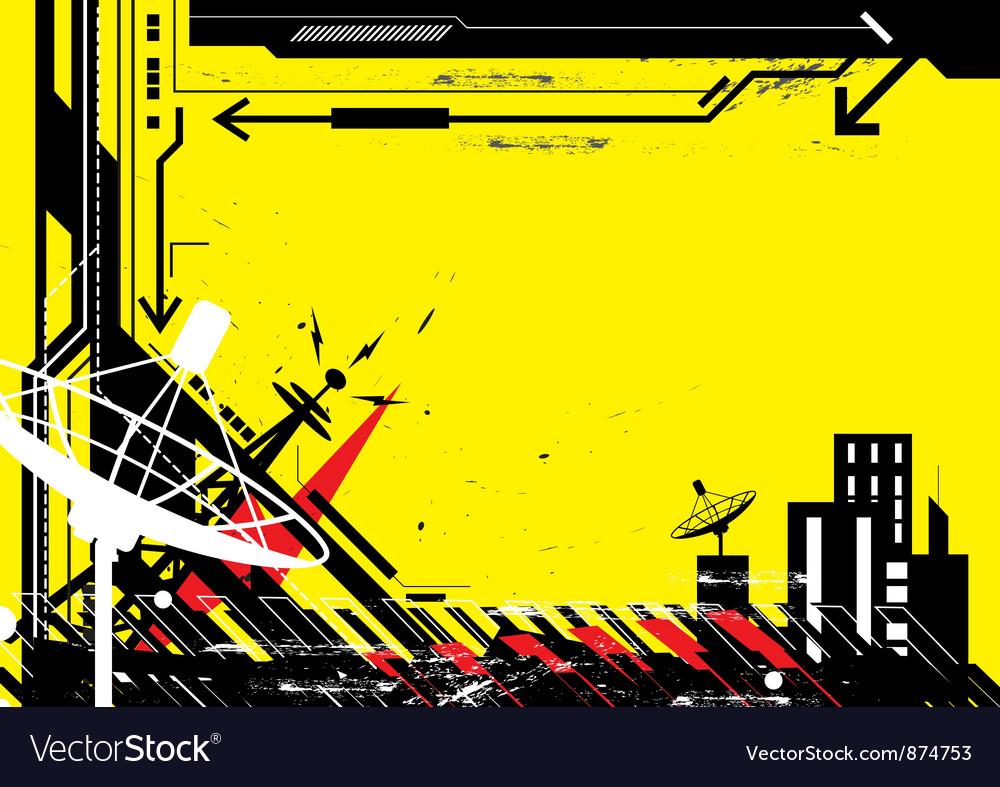 Abstract design urban scene vector image
