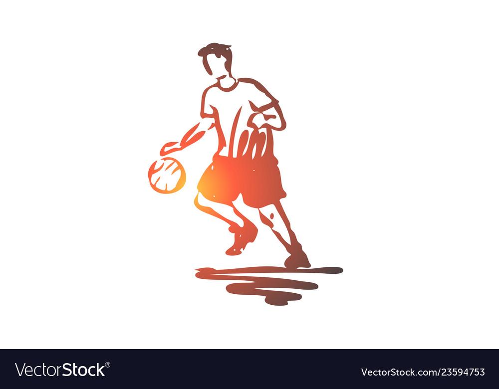 Boy sport basketball ball sport concept hand