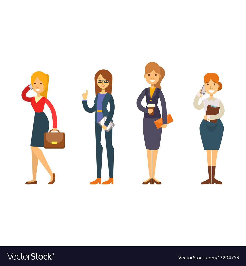 Business people woman character