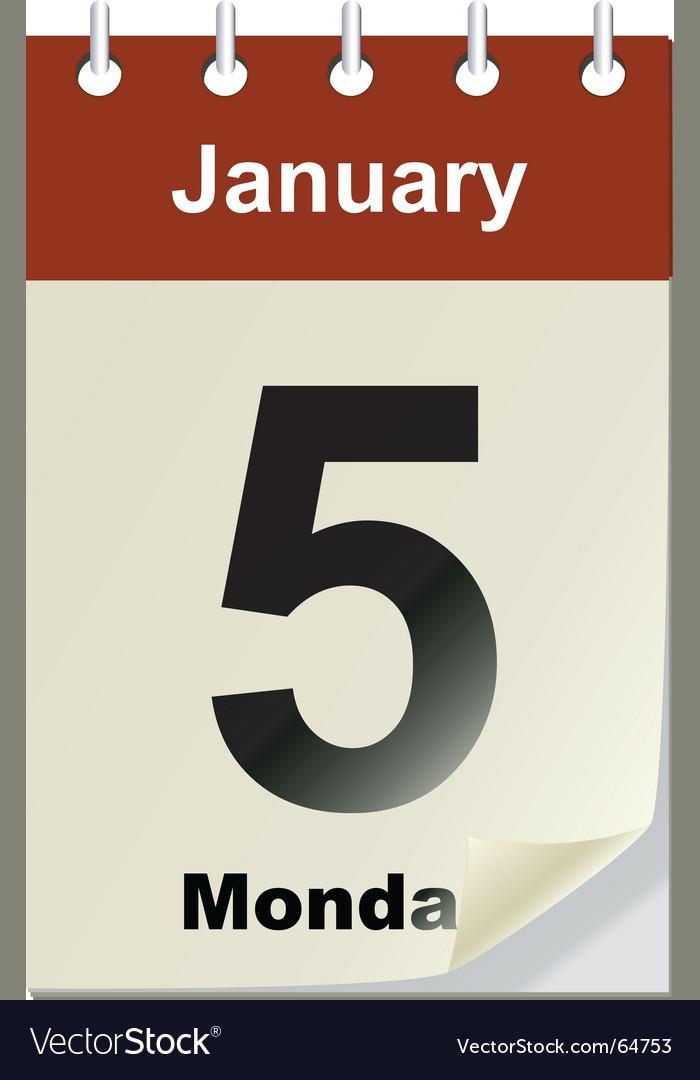 Changeable calendar vector image