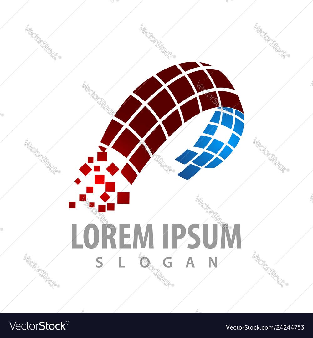Digital abstract technology logo concept design