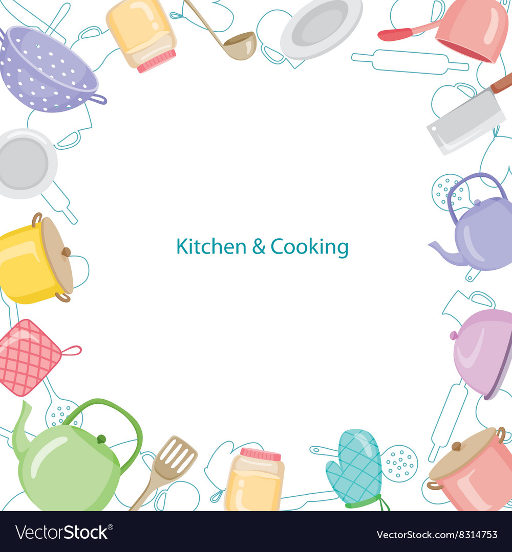 Kitchen Layout Design Tool Free: Kitchen Equipment Border Royalty Free Vector Image