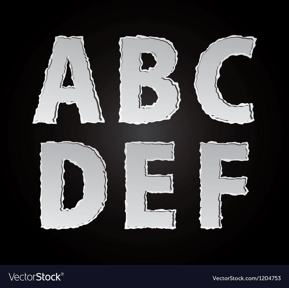 Paper alphabet part 1
