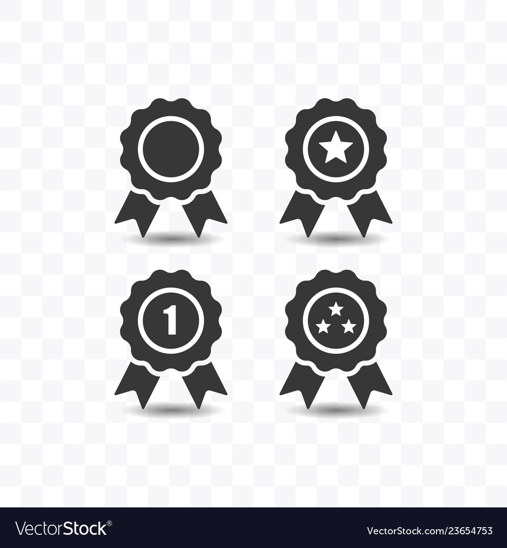 Set of award icon simple flat style