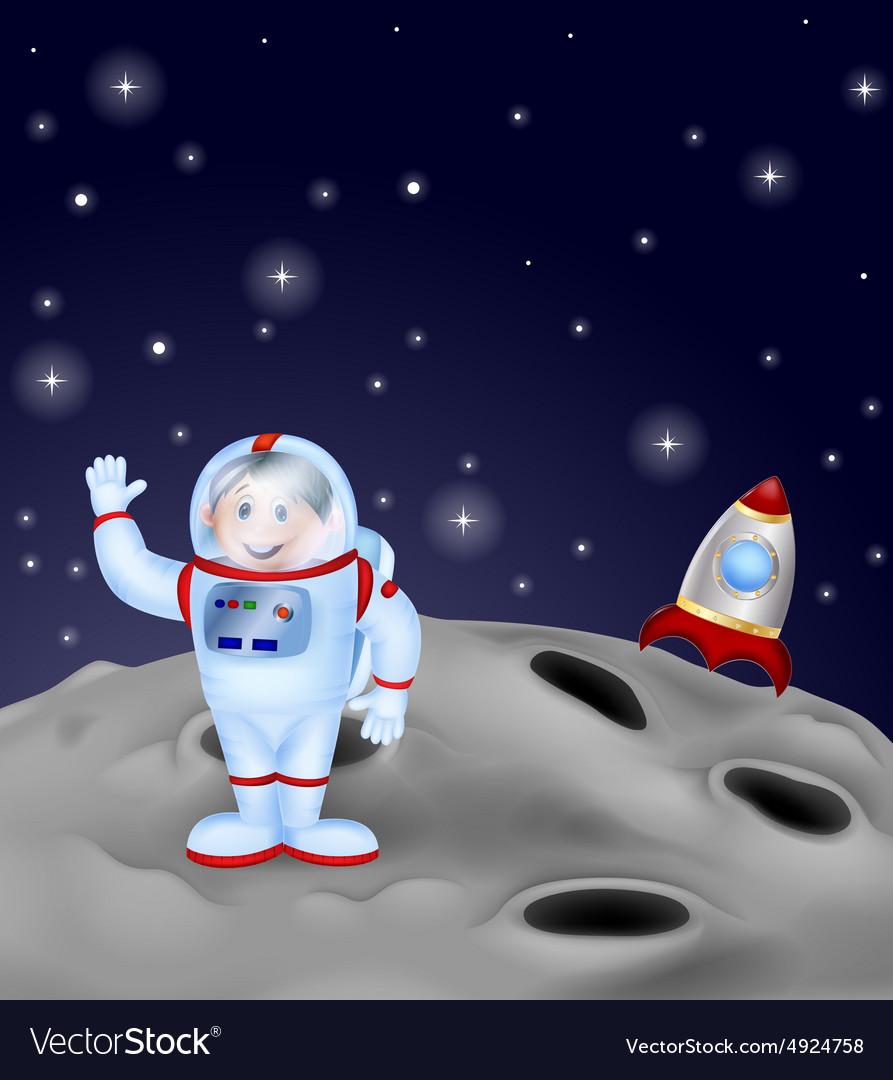 Astronaut landing on the moon