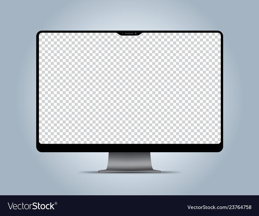 Computer mockup transparent display screen