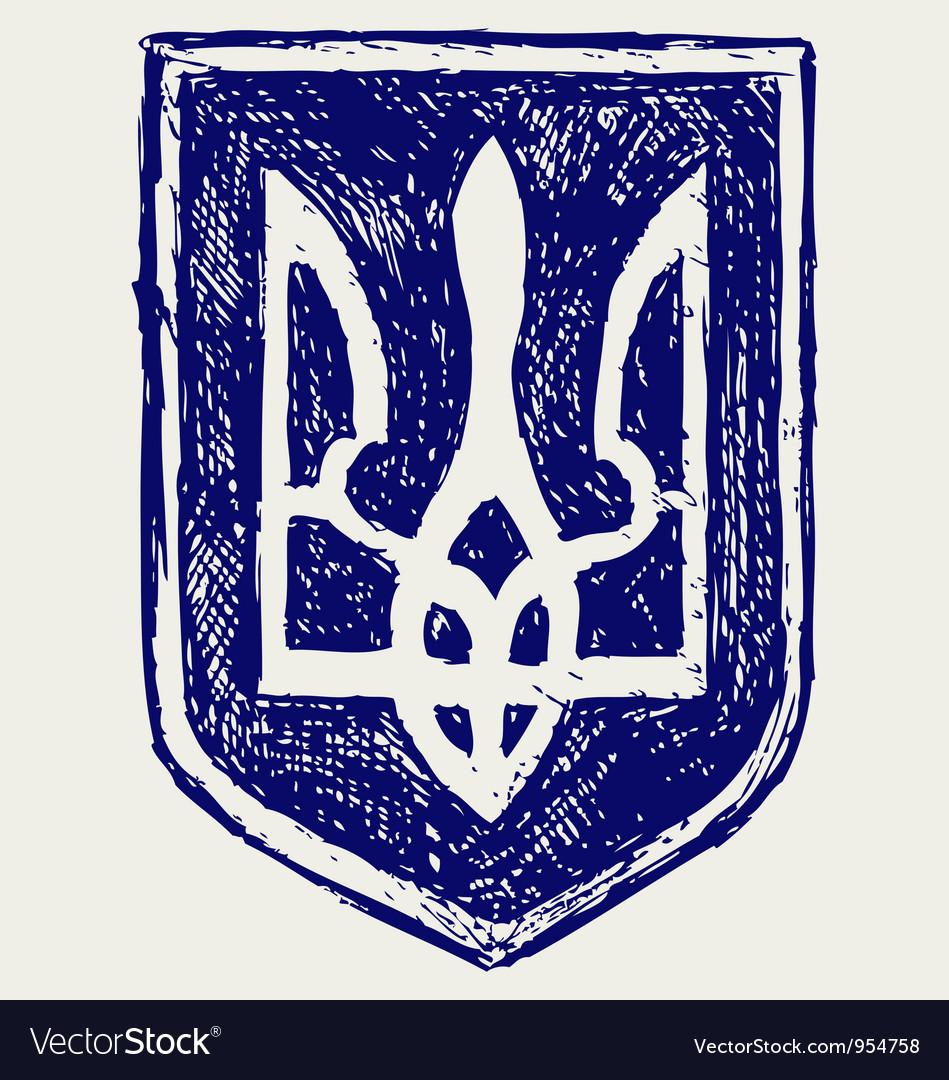 Emblem of Ukraine vector image
