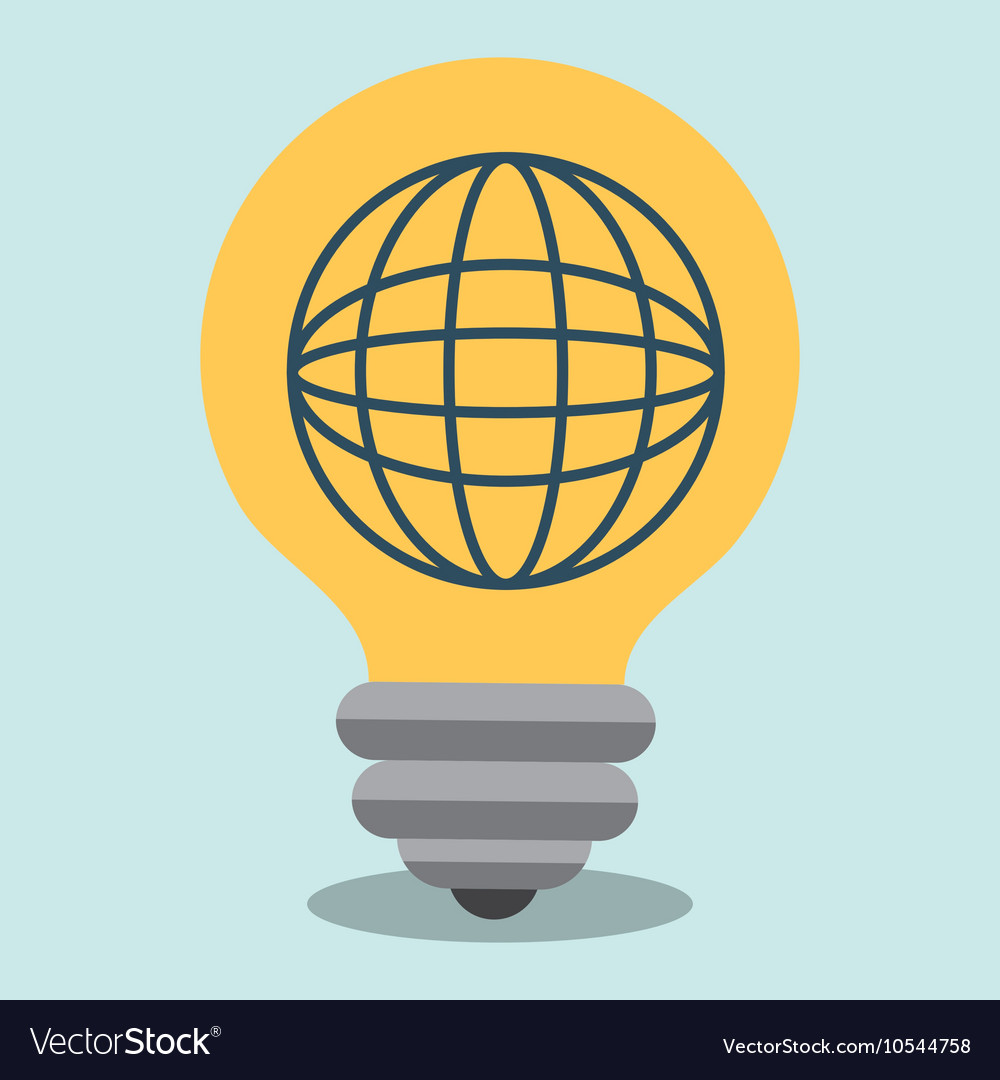 Idea global connection icon