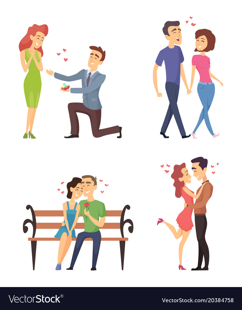 Love couples celebrating valentines day funny vector image