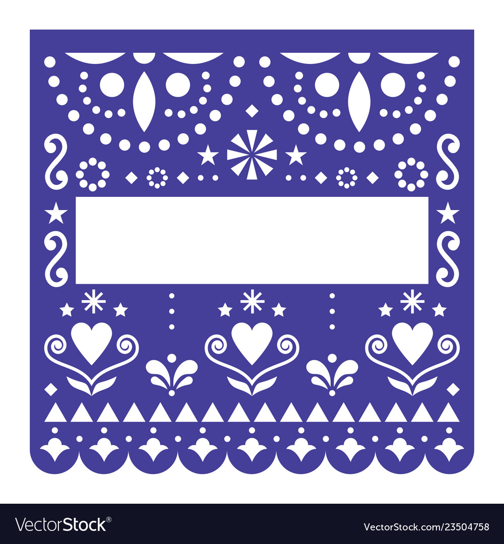 Papel picado template design mexican