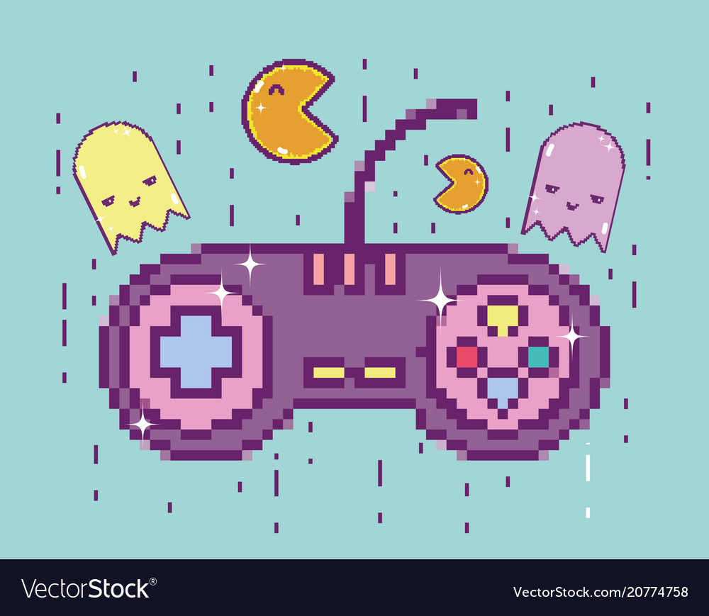 Pixelated retro gamepad