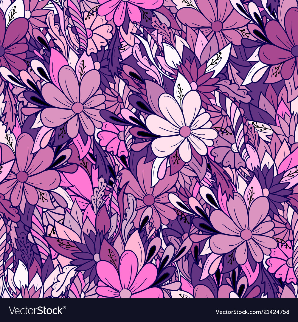 Seamless floral pattern with daisies