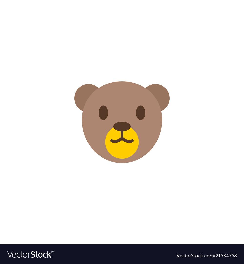 teddy bear icon flat element royalty free vector image