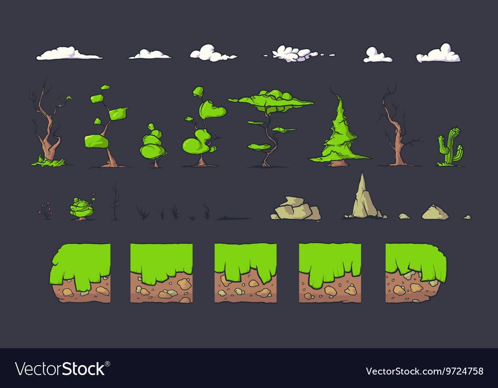 Tile set for Platformer Game Seamless