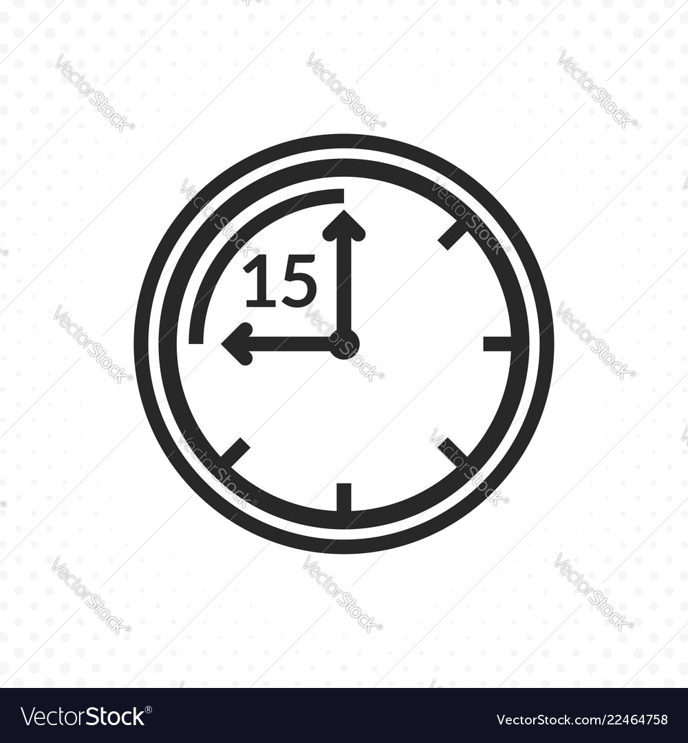 Time symbol of fifteen minutes