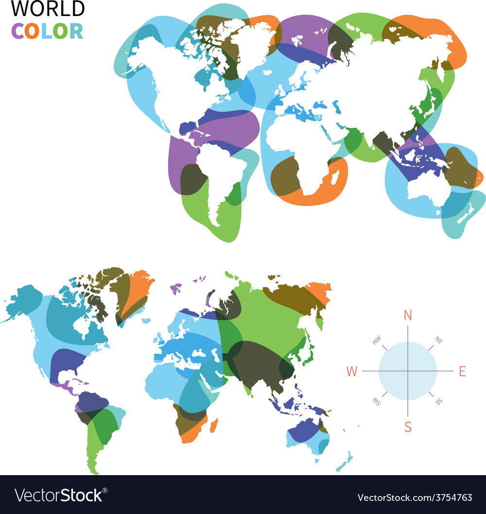 Abstract color map of World