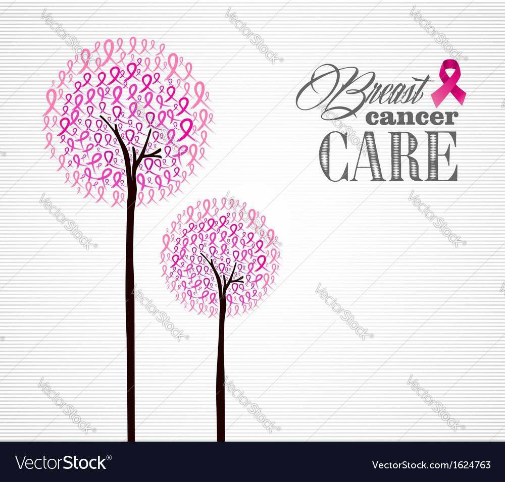 Breast cancer awareness pink ribbons conceptual