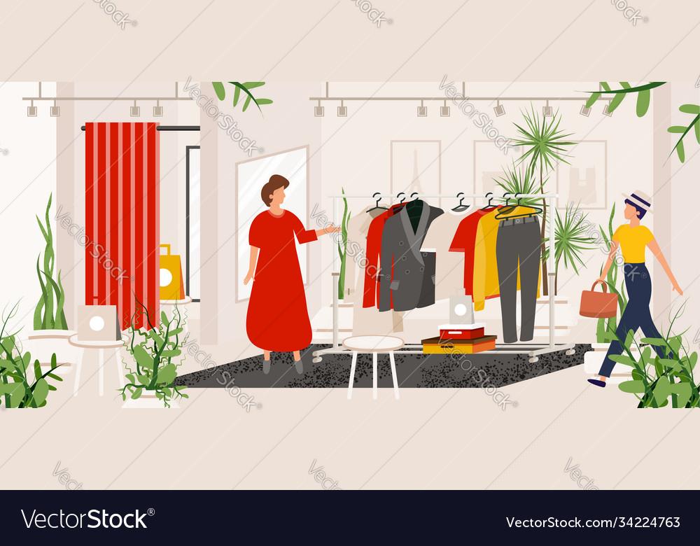 Fashion clothes store boutique or shop