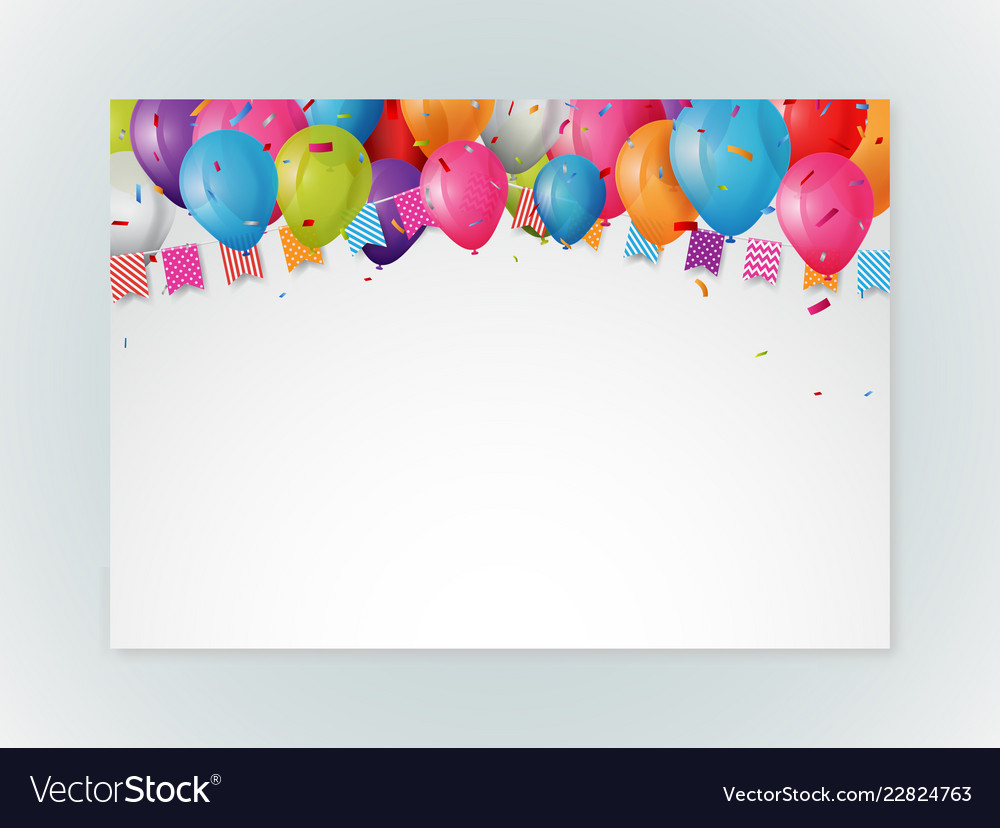 Happy birthday greeting card design with confetti
