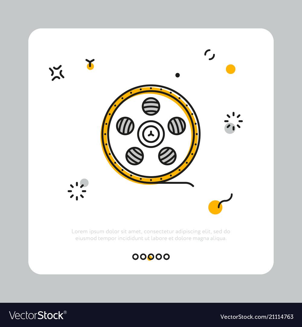 Icon of filmstrip on reel