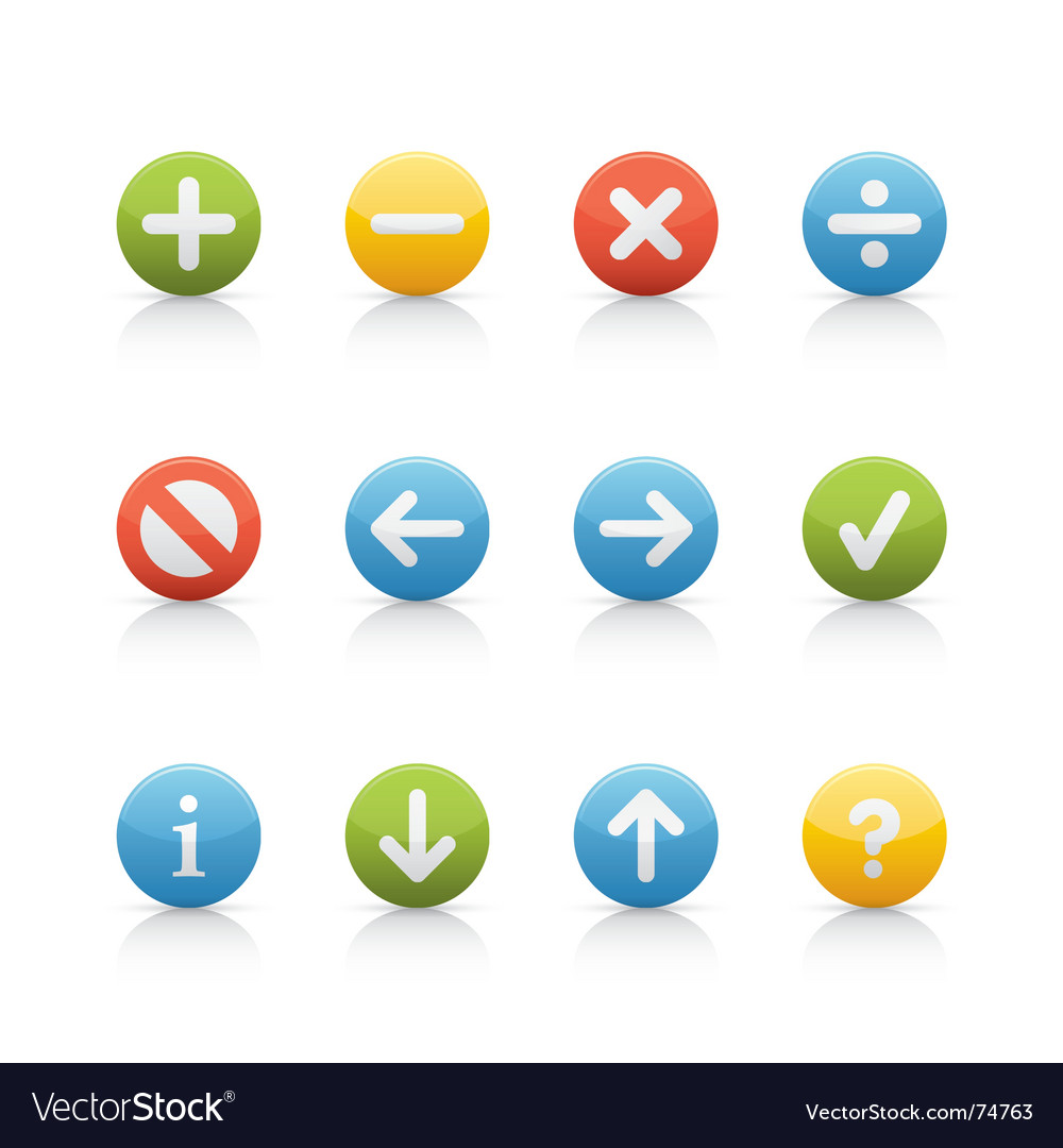 Icon set navigation buttons