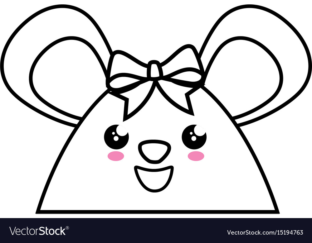 Little mouse kawaii cartoon