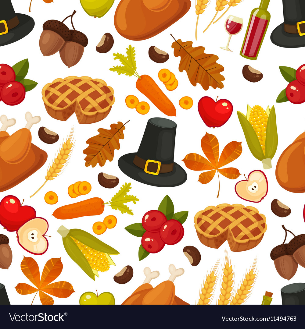 Thanksgivin day seamless backgroundSymbols of