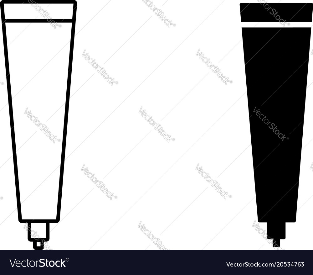 Toothpaste in tube icon vector image