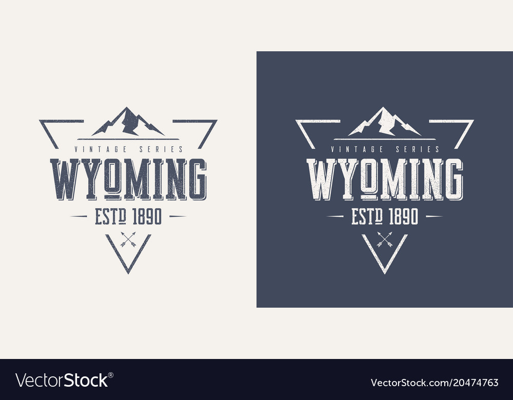 Wyoming state textured vintage t-shirt and vector image