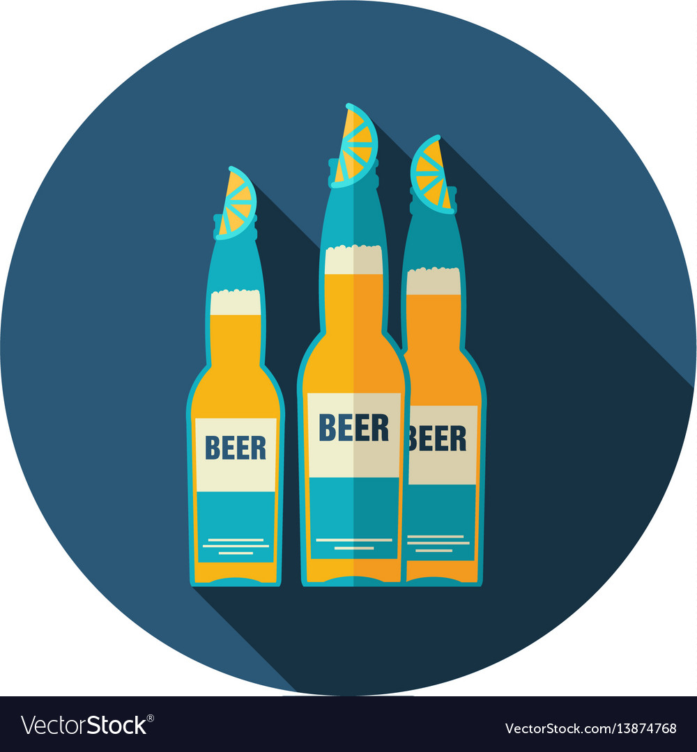 Beer bottle icon summer vacation
