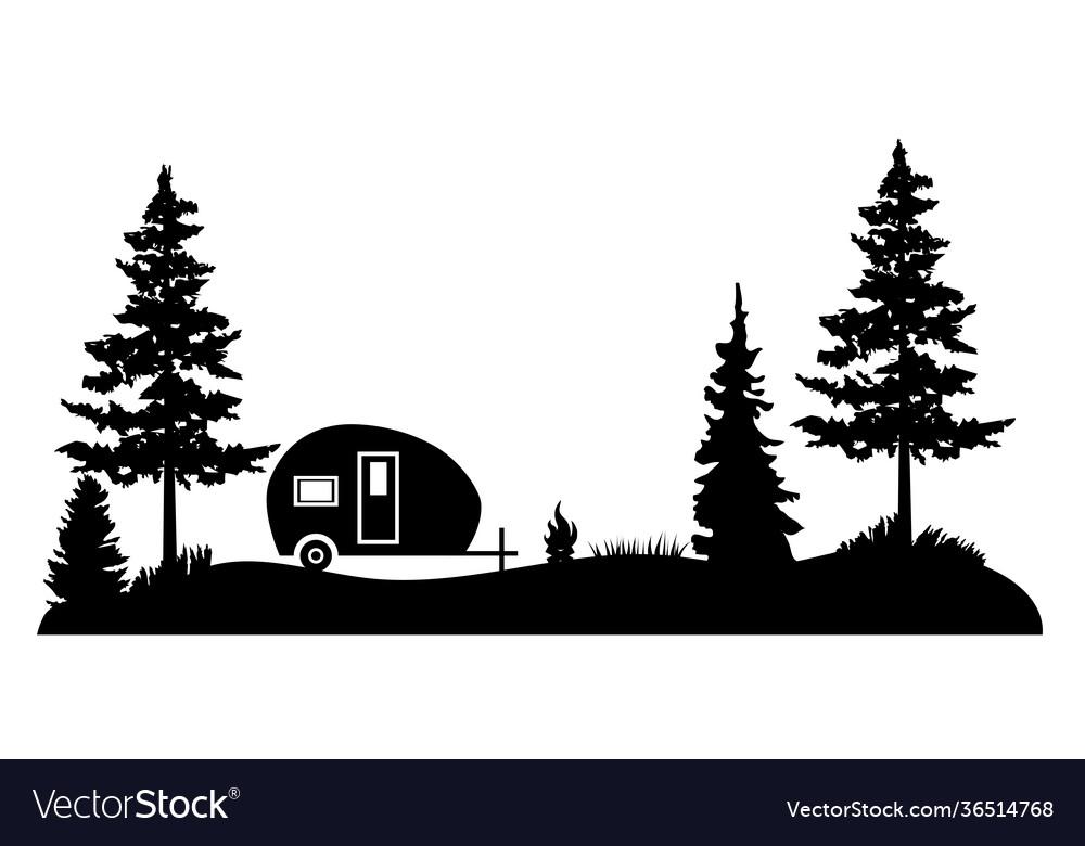 Camper forest