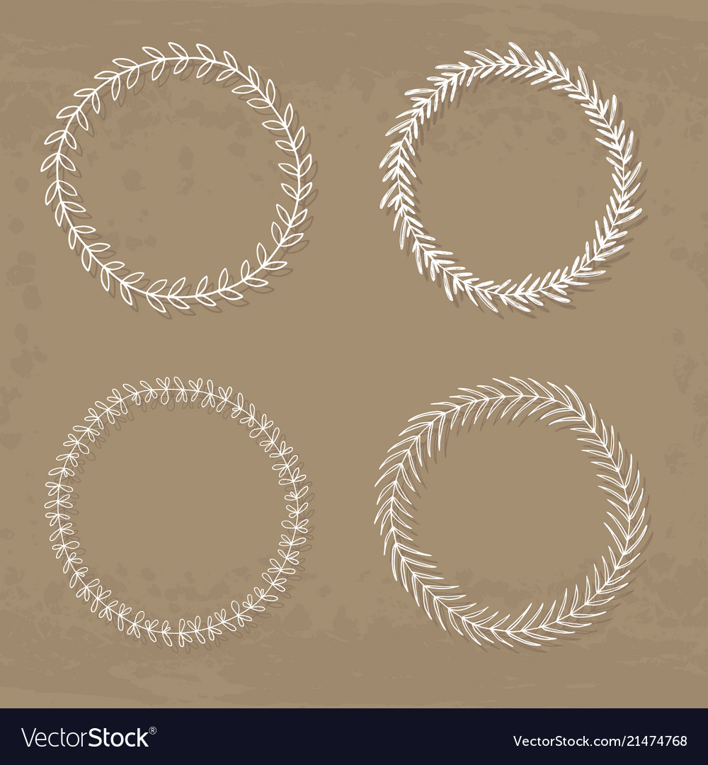 Collection of four wreaths
