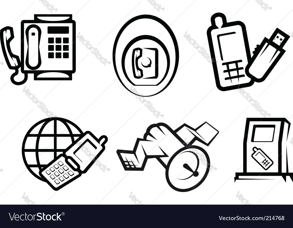 Communication And Internet Symbols Royalty Free Vector Image