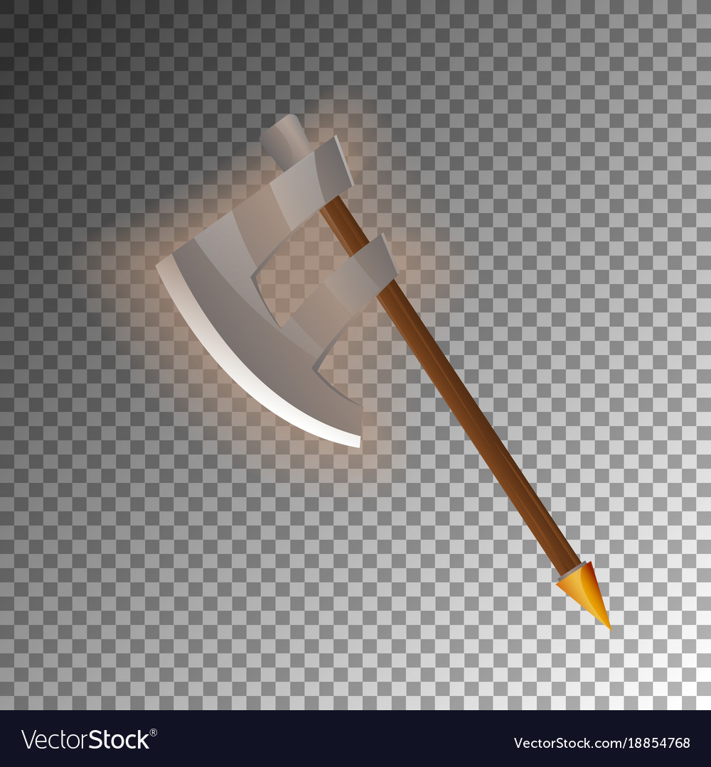 Fantasy medieval halberd isolated game element