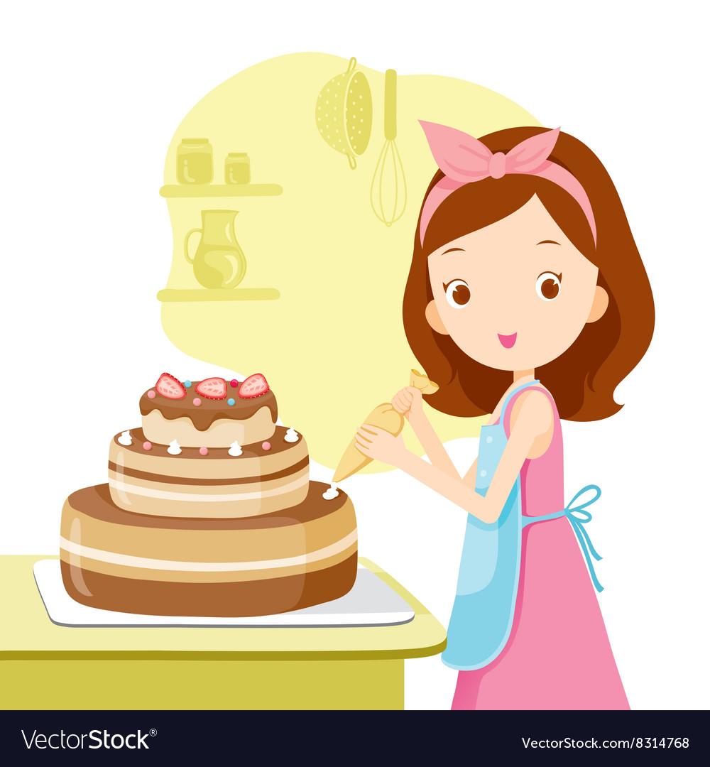 Мама с тортом картинка блестящие