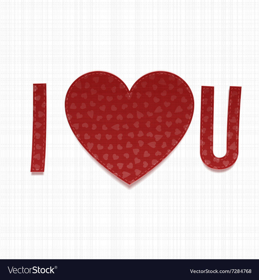 I love You Inscriptipn Valentines Day paper Type