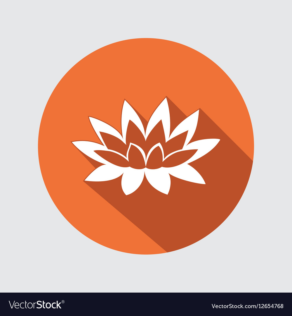 Lily lotus flower icon waterlily floral symbol vector image izmirmasajfo