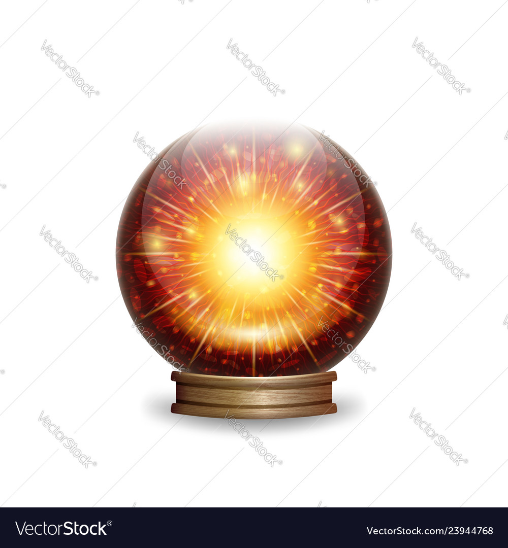 Magic fire crystal ball with lights