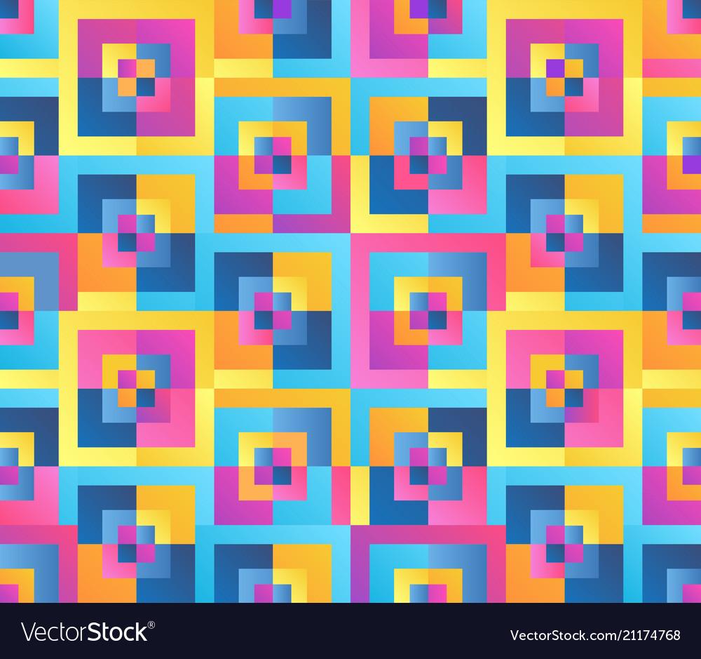 Modern gradient style geometric seamless