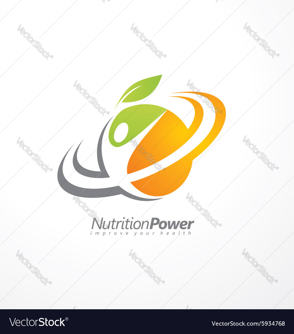 Organic Health Food Creative Symbol Layout Vector Image