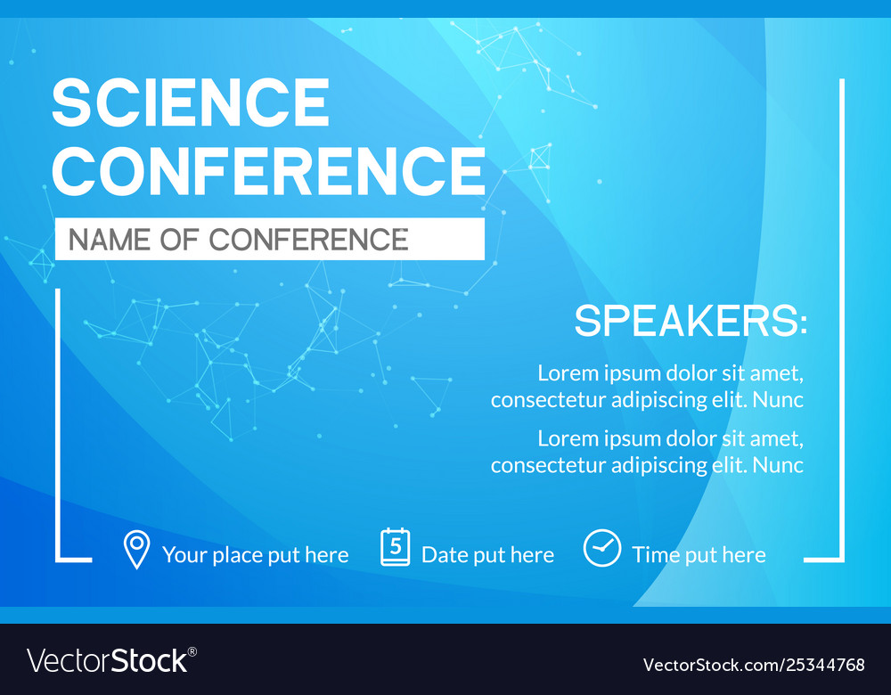 Science conference business design template