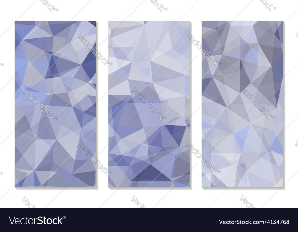 Set of Abstract Geometric Polygonal Backgrounds