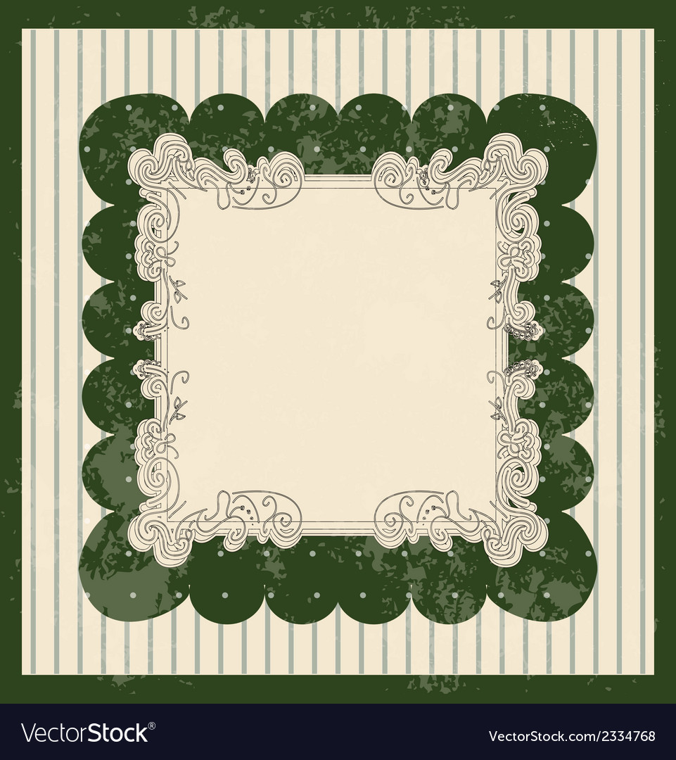 Vintage style background with scale pattern vector image